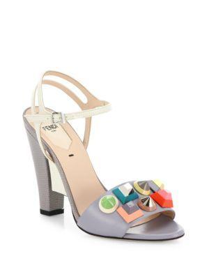 Fendi Ankle Strap Leather Sandals clearance online pick a best online original cheap online sale shop offer X1SWl7YqXH