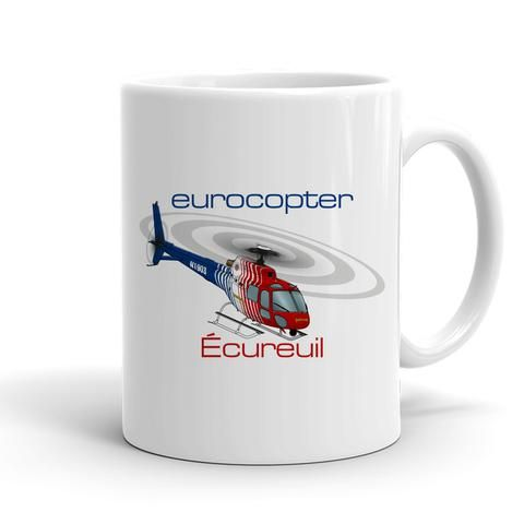 Eurocopter AS350 Ecureuil Helicopter T-shirt Personalized with Your N#