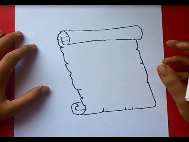 Como Dibujar Un Pergamino Paso A Paso 2