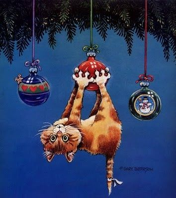 Gary Patterson Cats christmas Funny Cats by Gary Patterson ~ Love