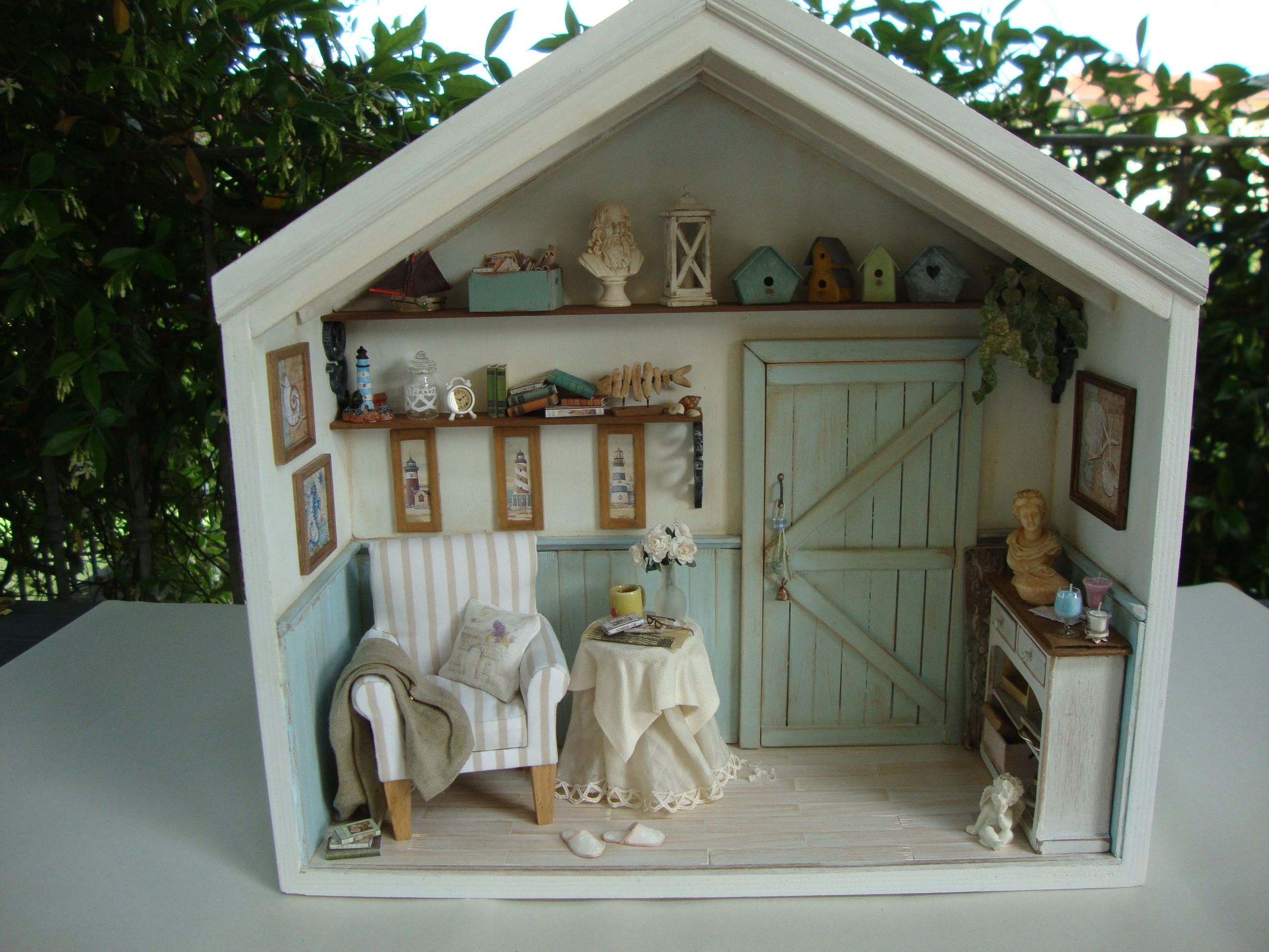 Room Box Scale 1 12 One Of A Kind In 2020 Room Box Room Box Miniatures Doll House Plans