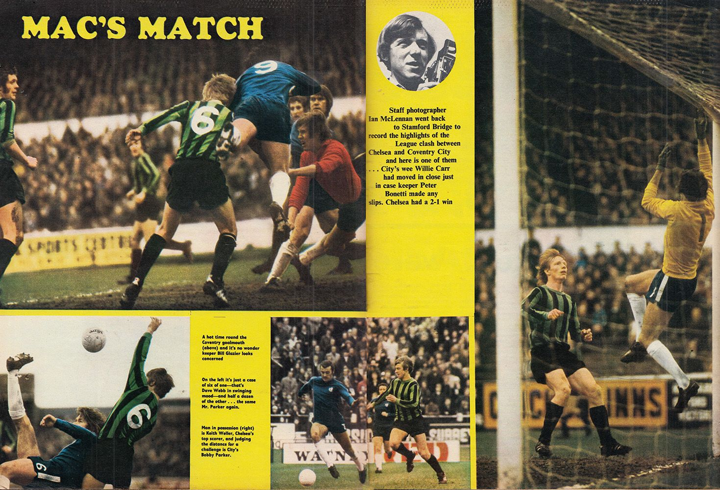 24th April 1971. Chelsea beating Coventry City 2-1, at Stamford ...