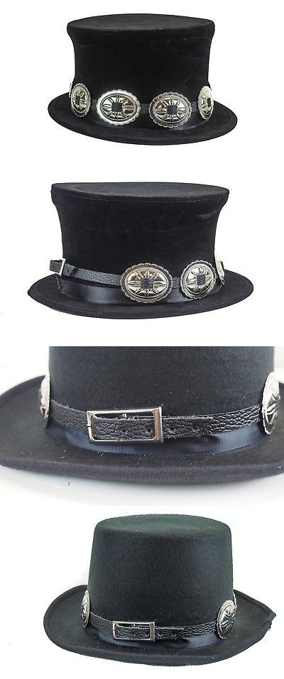 Hats and Headgear 155349  Pop Up Steampunk Top Hat Leather Like Rock Star  Concho Slash Hat -  BUY IT NOW ONLY   44.99 on eBay! a3c5baf5243