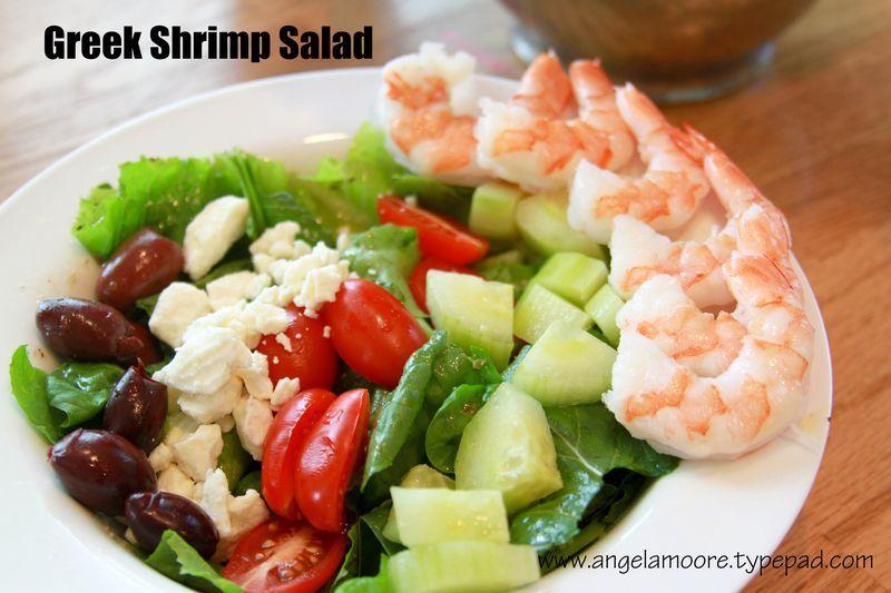 Greek Shrimp Salad---super simple summertime supper