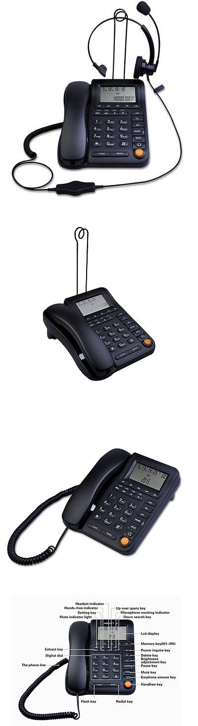 Corded Telephones: Leeker Lk-P017b Call Center Home Office Corded ...