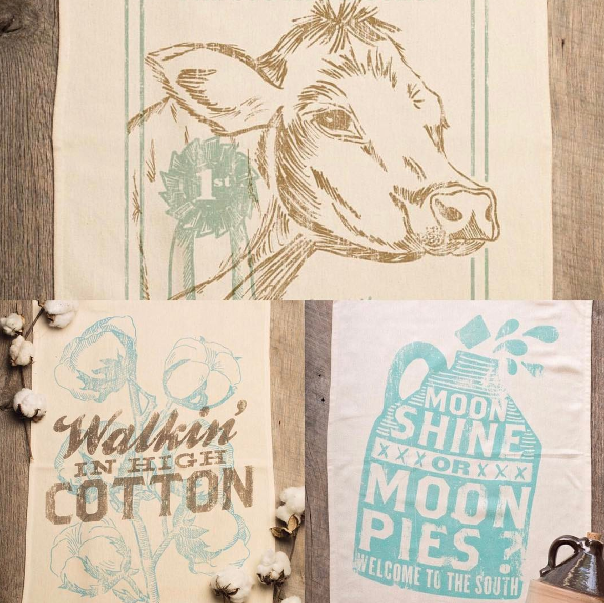 Farm Tea Towels available in store or on our website!  www.homeandhash.com  Precious!!!