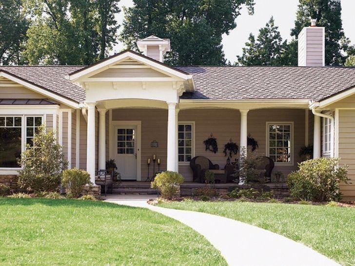 Home Designs Außen, Außenfarben Ideen, Haus Aussenbereiche, Ranchhäuser  Außen, Ranch Haus Renovieren, Häuser Im Ranch Stil, Ziegel Ranch, Haushöhe,  ...