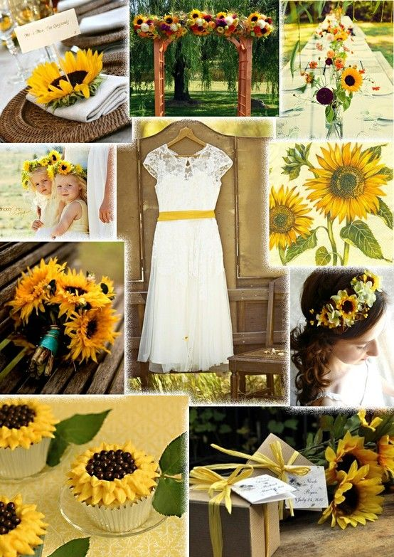 Sunflower Wedding Ideas | I Love The Head Piece On This One Show Me Something Pretty