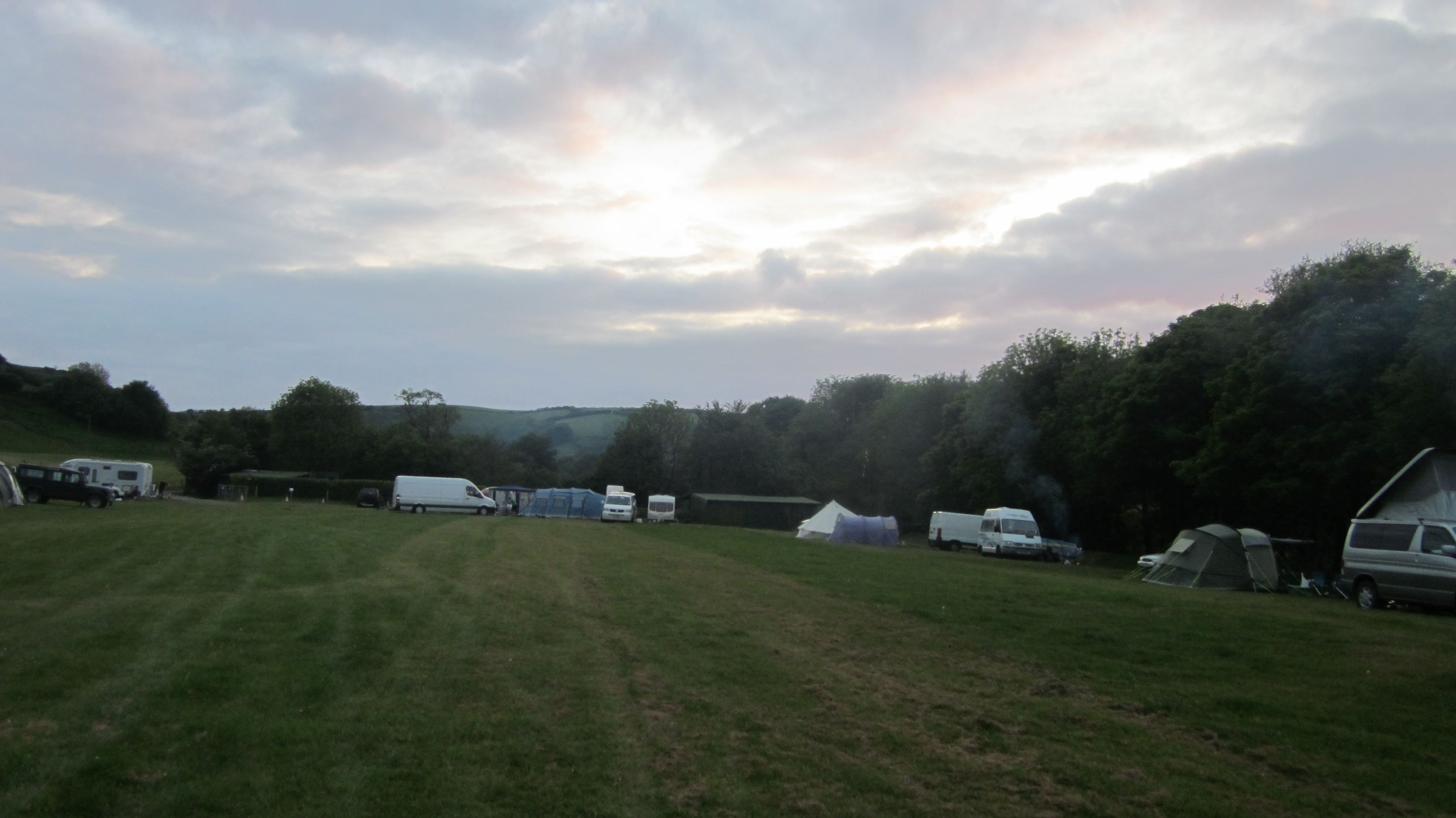 Leeford Farm, Exmoor.  Riverside camping and campfires galore!