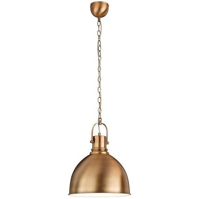 Lampara de techo campana industrial vintage laton env - Lamparas estilo industrial ...