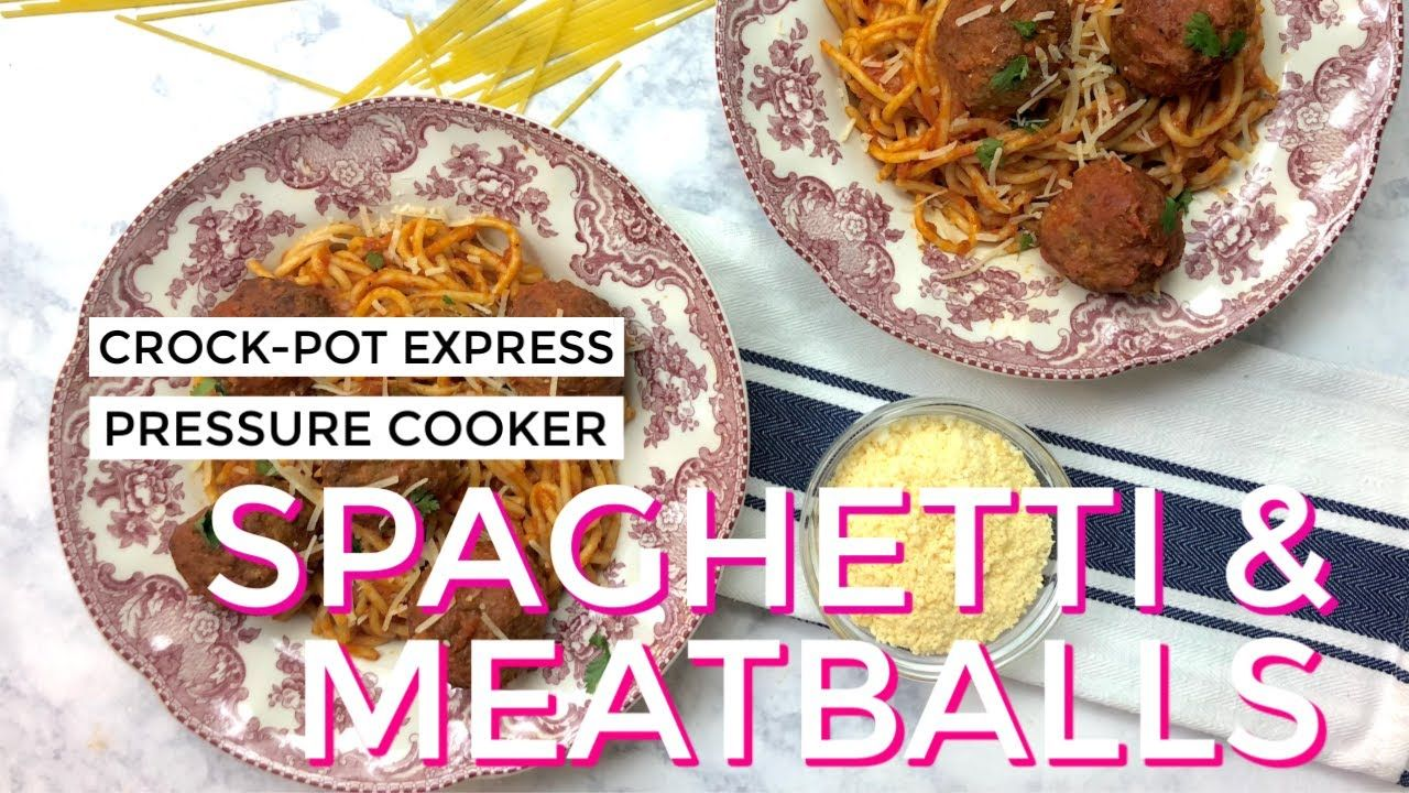 Crockpot express spaghetti and meatballs spaghetti and