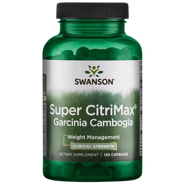 Swanson Best Weight-Control Formulas Super Citrimax Garcinia Cambogia | 120 Caps | Weight Loss