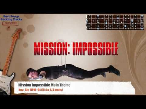 Mission Impossible Main Theme Guitar Backing Track | Backing Tracks ...