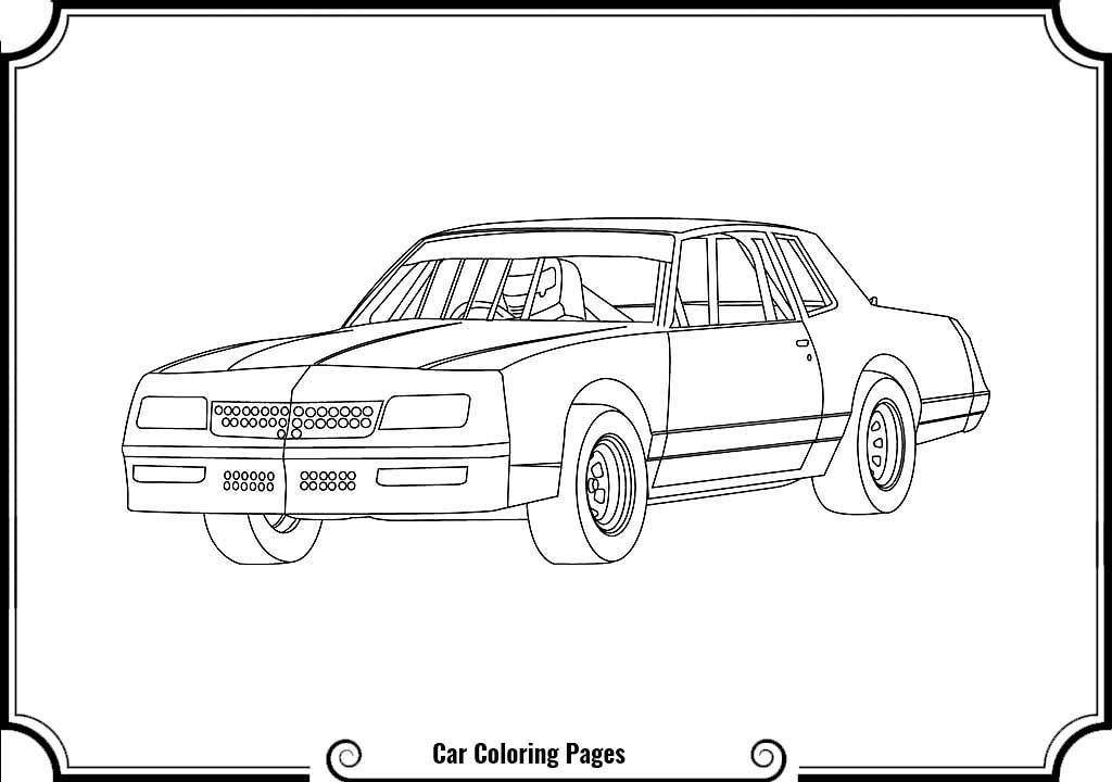 Street Stock Race Car Coloring Pages Race Car Coloring Pages