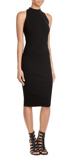 Von+Bailey+44+kommt+ein+schwarzes+Kleid,+das+durch+seinen+messerscharfen+Schnitt+subtil-verführerisch+wirkt,+dank+Rippstrick+aber+cool+und+angenehm+zu+tragen+bleibt.+Perfekt+sowohl+für+die+City+als+auch+für+die+Cocktailbar+#Stylebop
