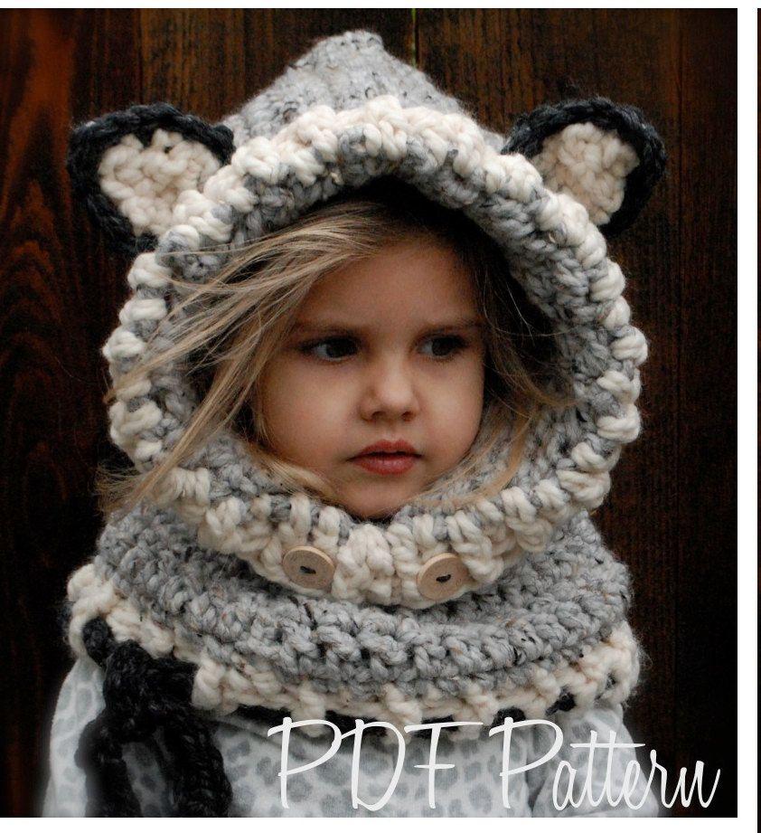 Crochet PATTERN-The Woodlynn Wolf Cowl (12/18 months, Toddler, Child ...