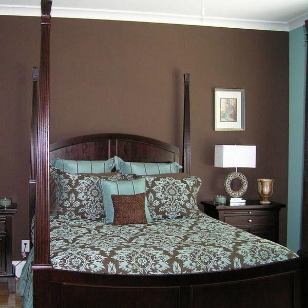Bedroom Walls Blue Brown