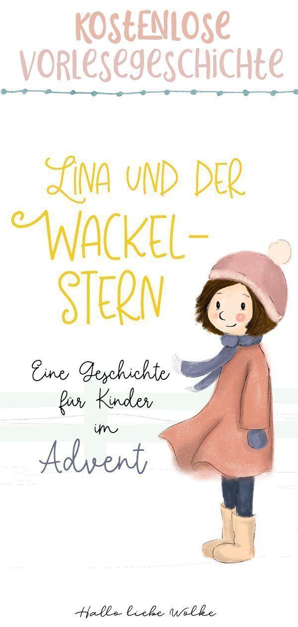 Lina und der Wackelstern {Adventsgeschichte für Kinder - eBook} • Hallo liebe Wolke #adventskranzideenkinder