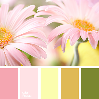 Dark Olive Green House Color Schemes Mustard Pale Pink Yellow Pastel Shades Of