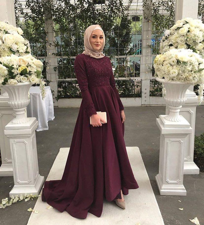 Image may contain 1 person, standing Hijabi Wedding, Muslim Wedding Dresses,  Muslim