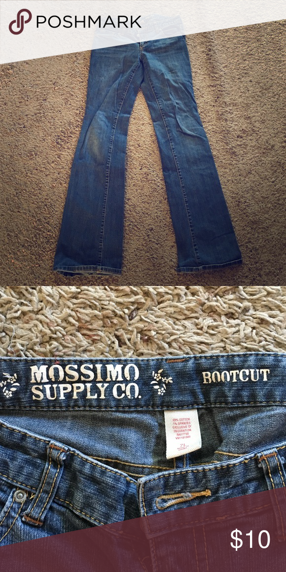 Mossimo Bootcut Jeans Mossimo supply co. Jeans, bootcut, dark wash. Only worn a few times! Great, cute, simple jeans that go with everything! Mossimo Supply Co. Pants Boot Cut & Flare