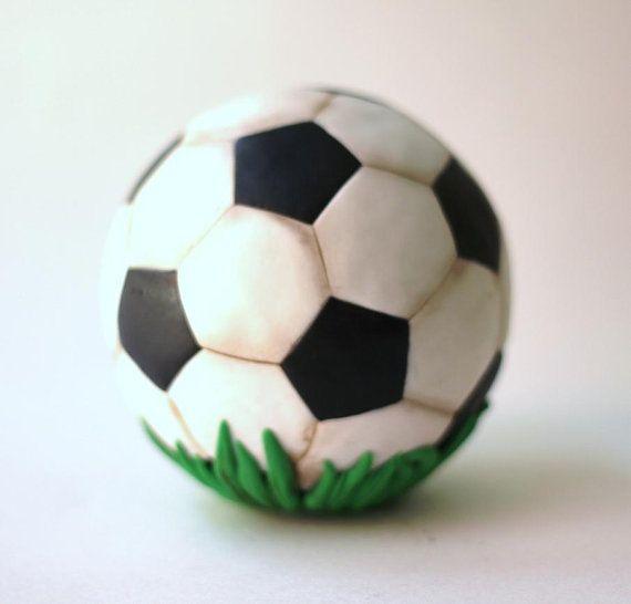 3d Fondant Soccer Ball Cake Topper Soccer Ball Fondant Soccer Cake Soccer Ball Cake Fondant Toppers