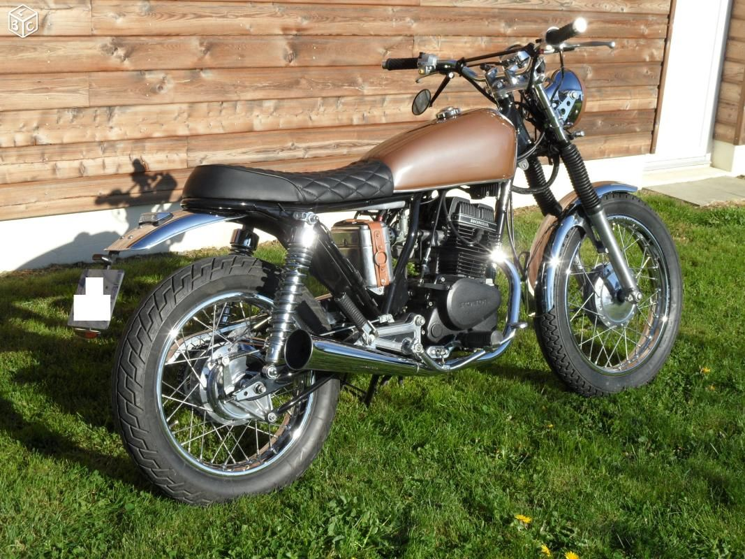 honda 125 cm custom tracker caf racer 125. Black Bedroom Furniture Sets. Home Design Ideas