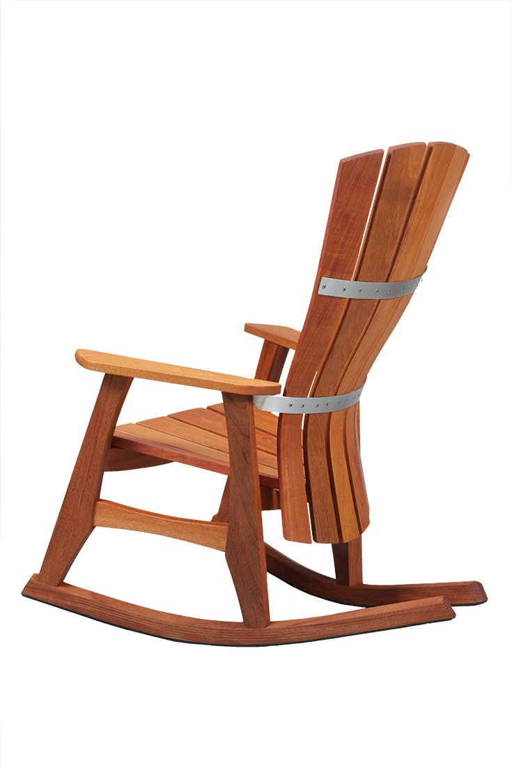 An Accomplishment In Both Comfort And Craftsmanship Our Outdoor Rocker Promotes A Restful Posture Wi Rocking Chair Garden Rocking Chair Outdoor Rocking Chairs
