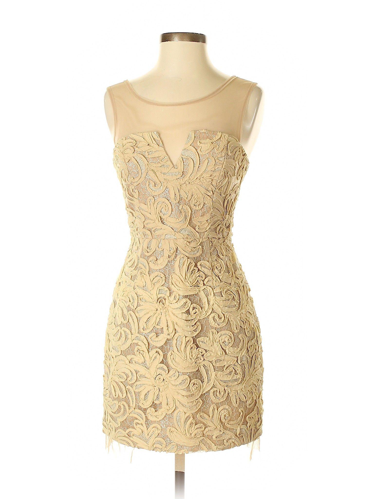 Bcbgmaxazria Cocktail Dress Sheath Tan Lace Dresses Used Size 4 In 2020 Dresses Tan Lace Dress Bcbgmaxazria Dresses [ 2048 x 1536 Pixel ]
