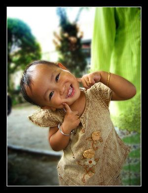 De glimlach van een kind