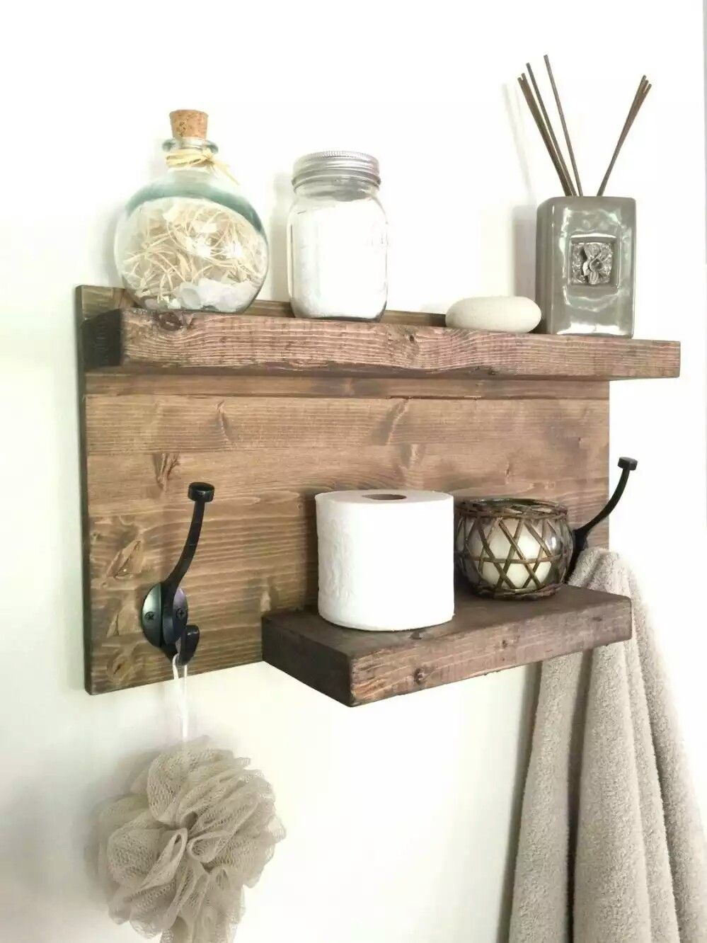 Pin By Brittany Hills On Storage Ideas Bathroom Design Decor Rustic Bathroom Shelves Rustic Towels