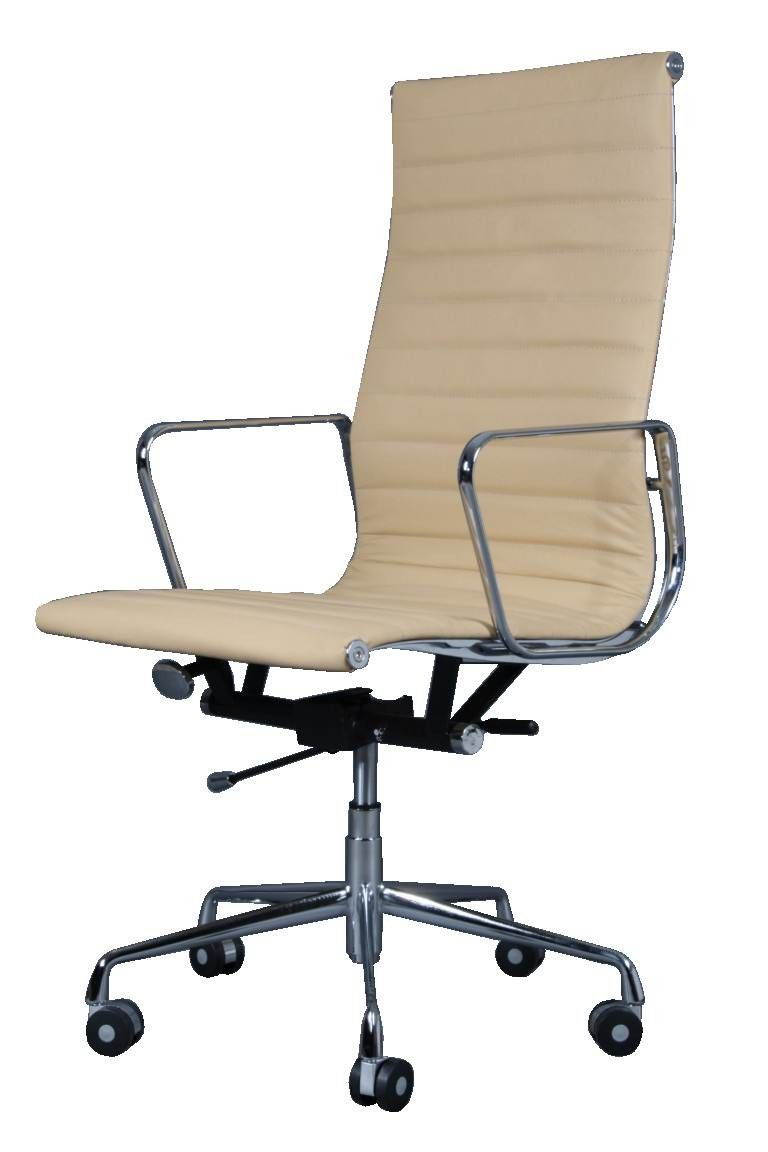 Eames ea119 high back ribbed office chair whiteleather