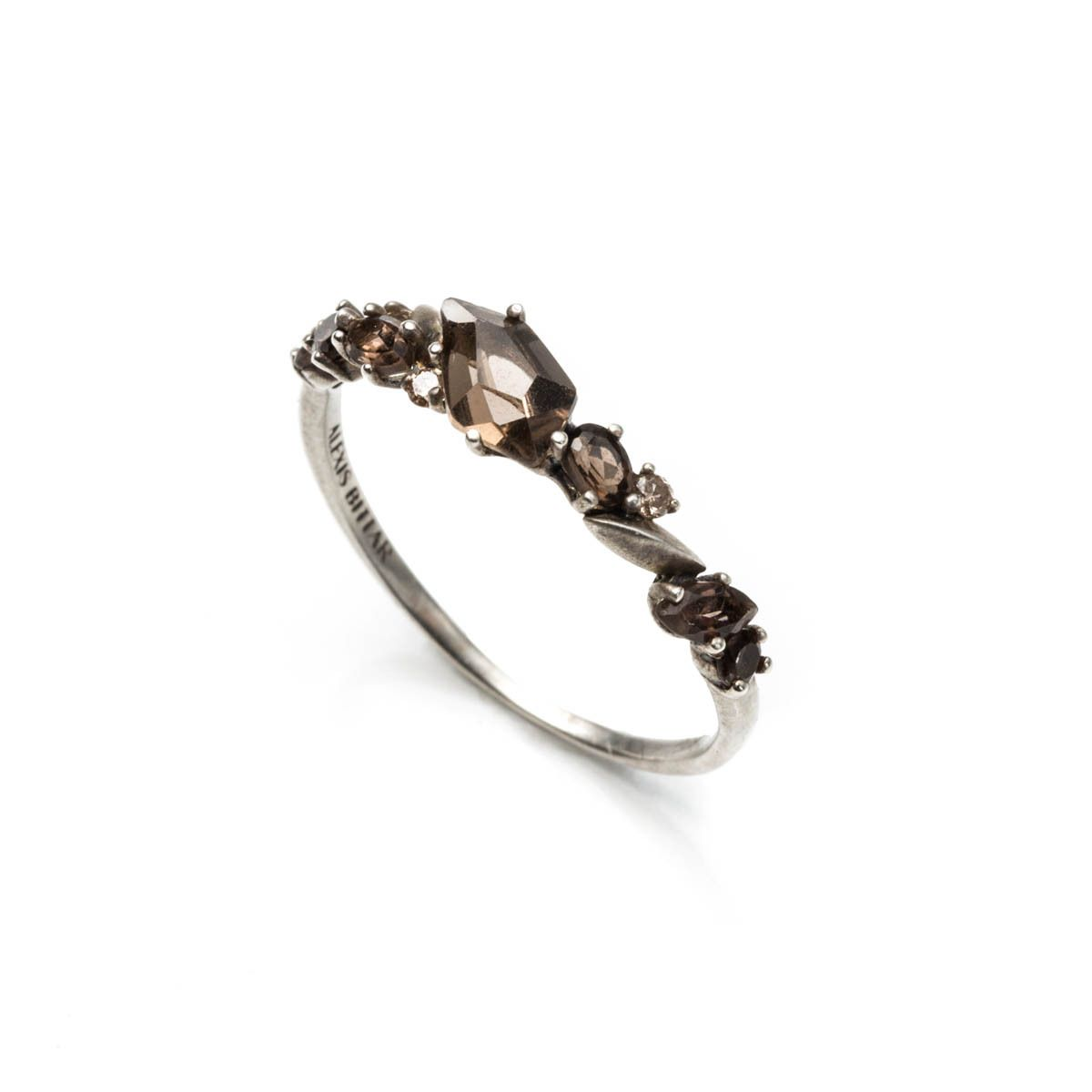 Smoky Marquis Small Cluster Band Ring | Alexis Bittar