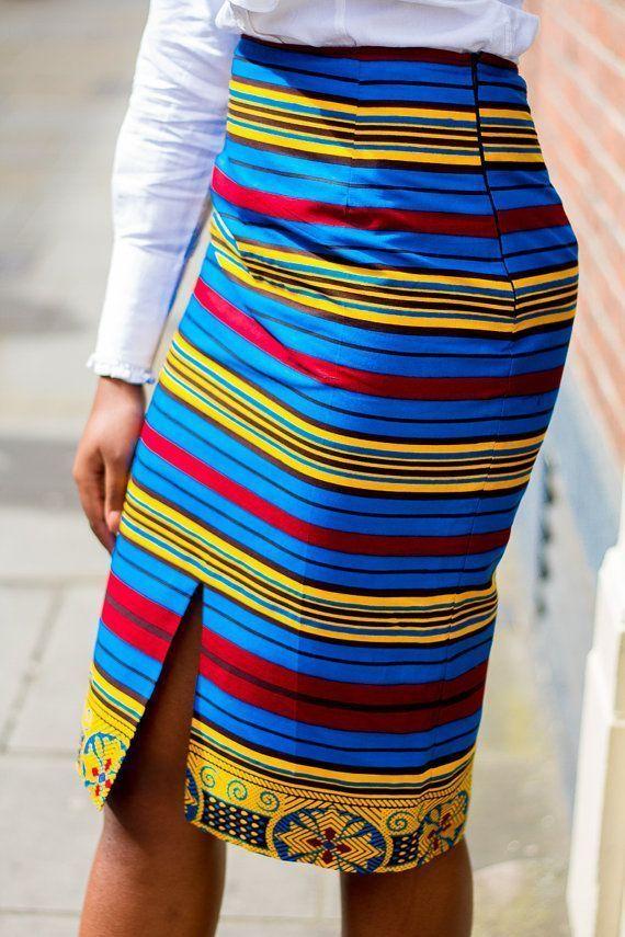 Afrikanische Kleidung Afrikanischer Bleistiftrock Afrikanischer Druck von Laviye,  #afrikanis... #afrikanischekleidung