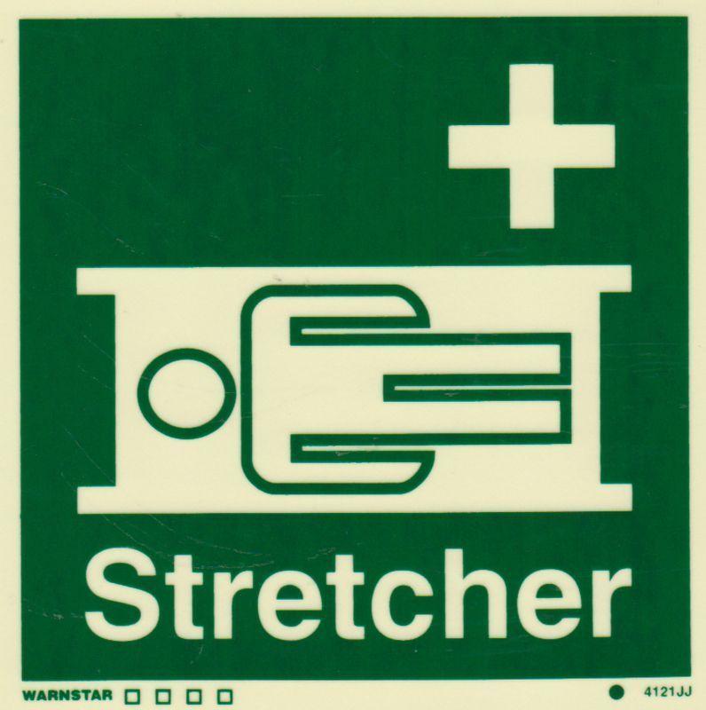 Marine Safety Sign, IMO Life Saving App. Symbol Stretcher