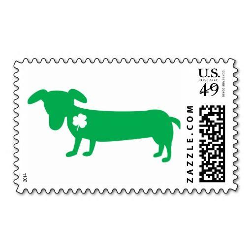 St. Patrick's Day Dachshund Postage