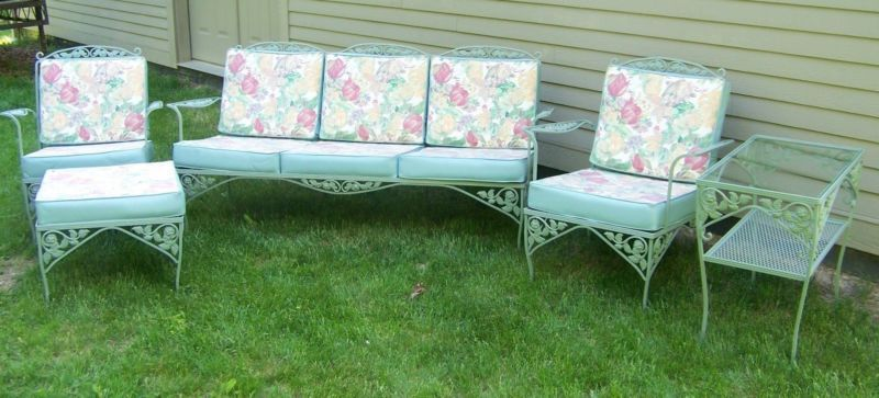 Vintage Meadowcraft Wrought Iron Patio Furniture Wrought