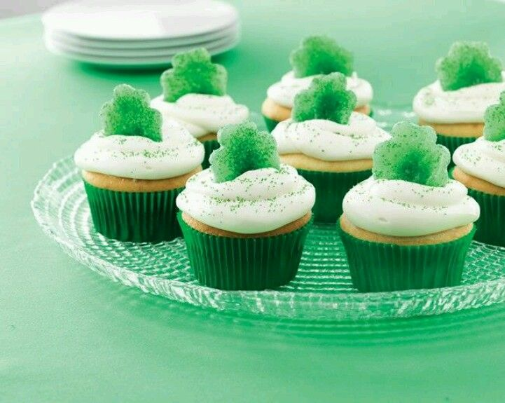 St patty's day cupcakes