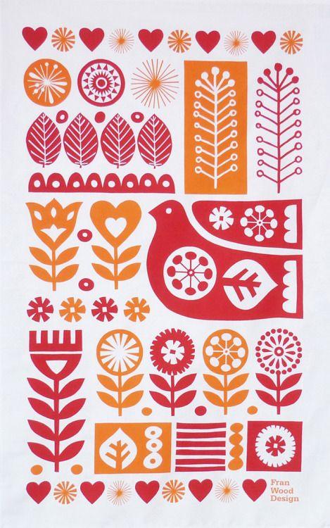 Chomiee C Modern Folk Art Folk Embroidery Scandinavian Art