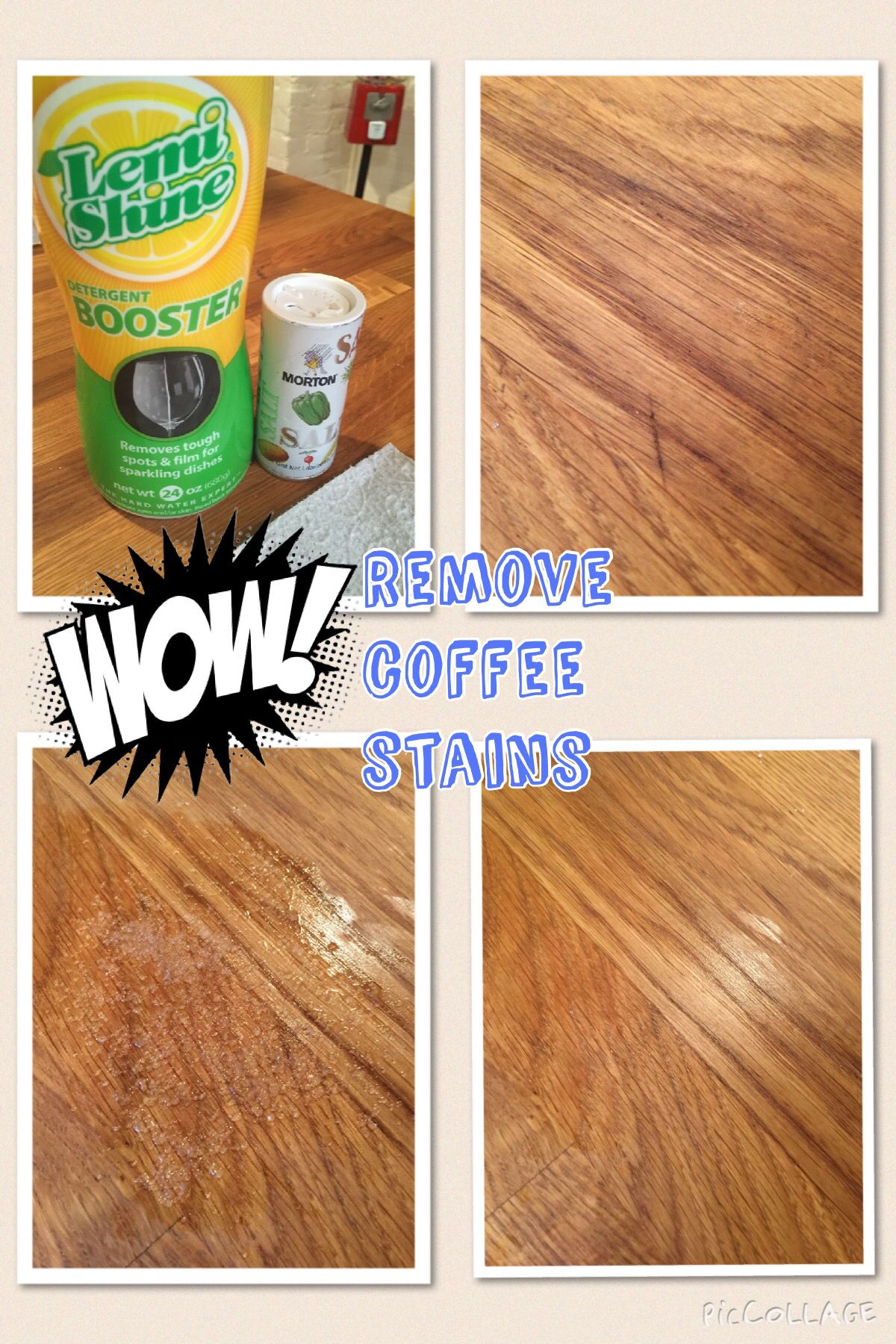 Remove Coffee Stains From Butcher Block Counter Top Make A Paste With Water Salt And Lemi Shine Let Set 10 Mins Stain Disears
