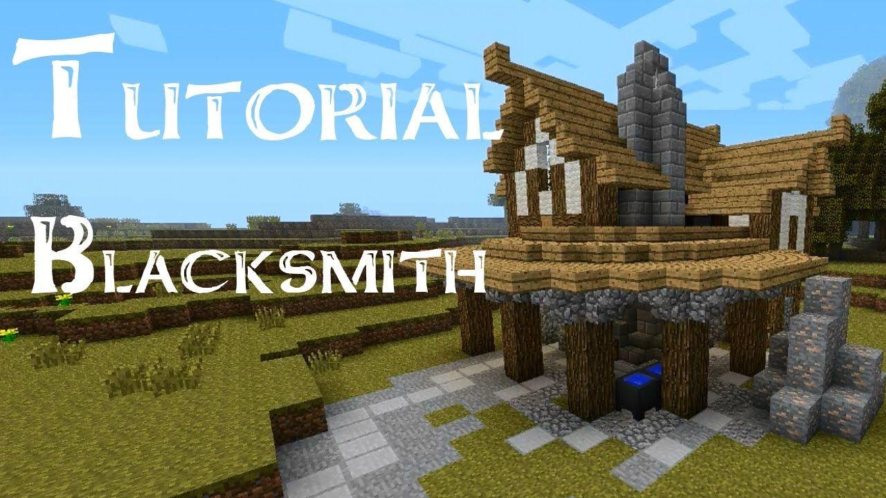 Minecraft Tutorial How To Build A Medieval Blacksmith