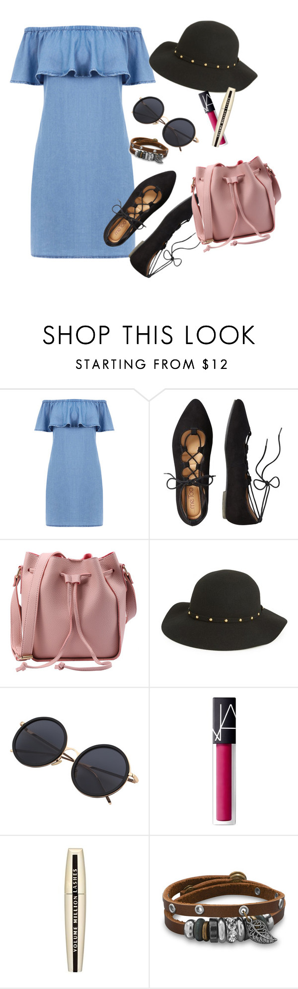 """""""❤"""" by rockgirl99 ❤ liked on Polyvore featuring Warehouse, TravelSmith, San Diego Hat Co., NARS Cosmetics, L'Oréal Paris and BillyTheTree"""