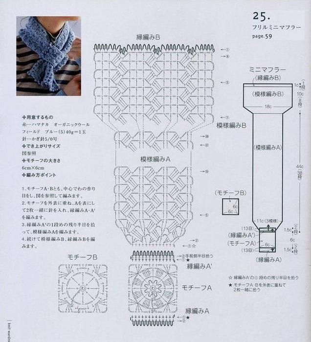 636x699, 74kb)   Esharpes and shawls   Pinterest