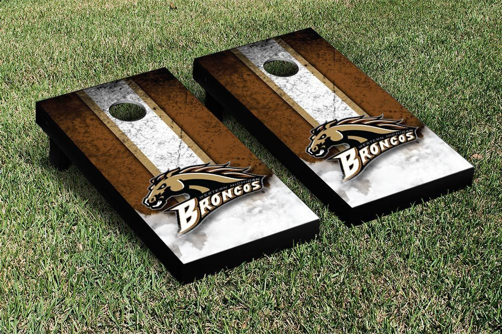 Western Michigan Broncos stripes Cornhole Boards