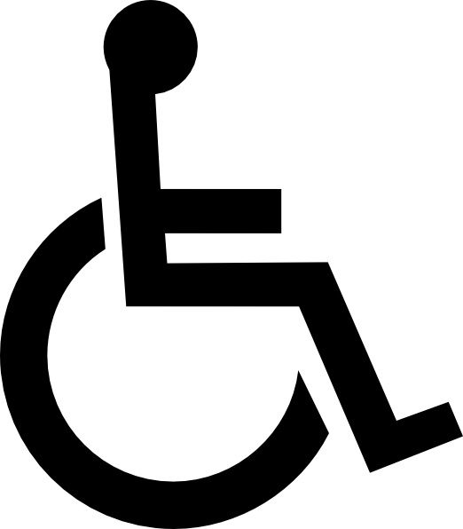 wheelchair symbol clip art cartelli icone simboli etc rh za pinterest com clip art of wheelchair wheelchair grandma clip art