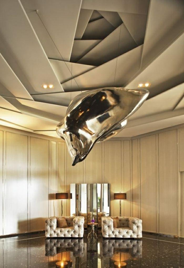 Faux plafond design salonfaux plafond deco