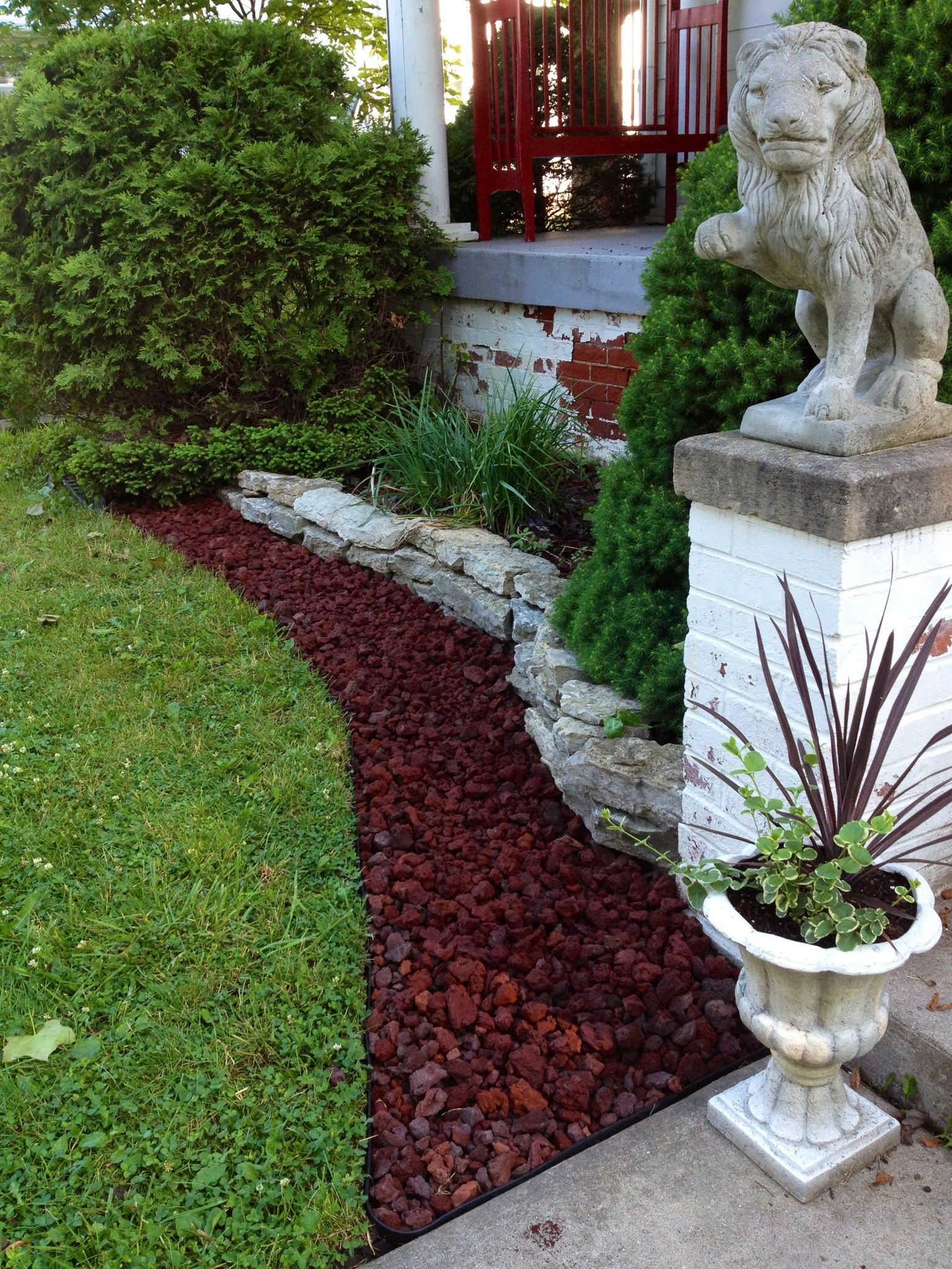 lava rock bed 2014 landscaping