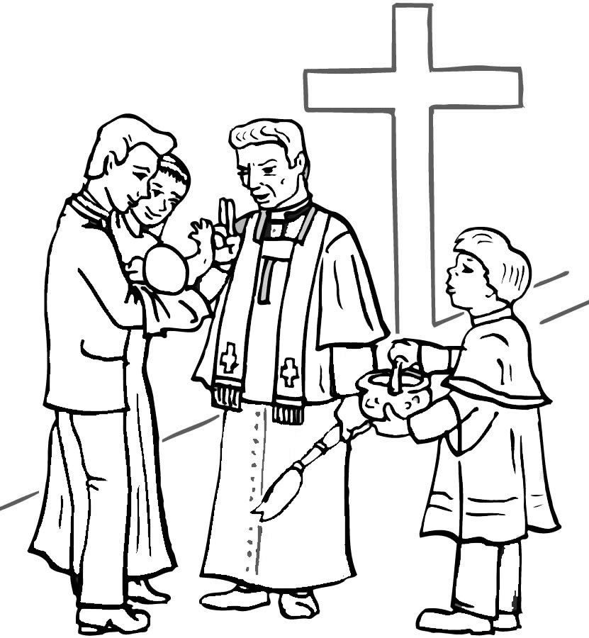 BAPTISM Colouring Pages page 3 Mlarbilder Brllop
