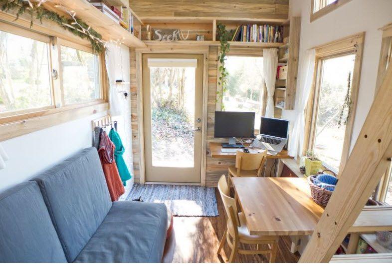 Dise o de peque a casa rodante de madera y dise o de - Casa pequena de madera ...