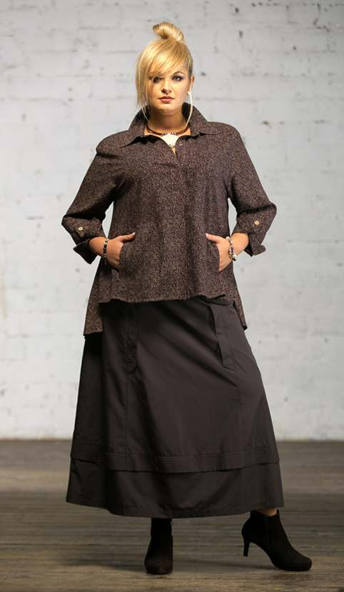 офисный стиль одежды для полных женщин